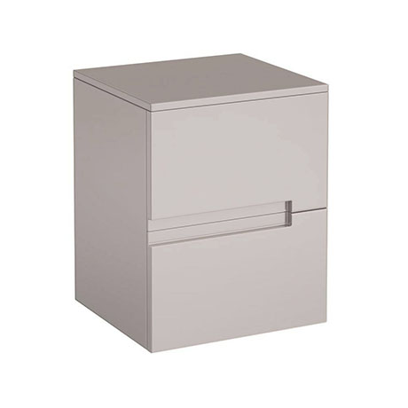 Urban 400mm Wall Hung Side 2 Drawer Unit - Cashmere