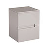 Urban 400mm Wall Hung Side 2 Drawer Unit - Cashmere profile small image view 1