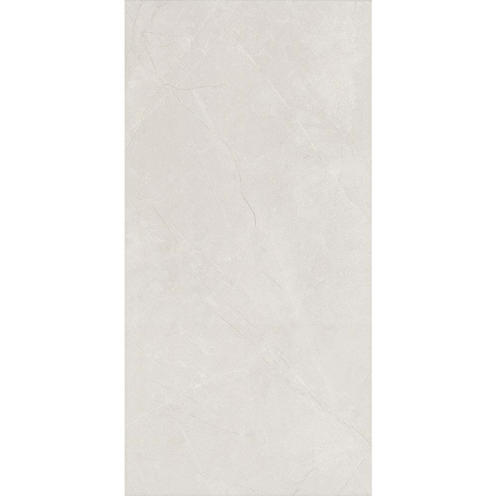 Faro White Matt Wall Tiles - 25 x 50cm Large Image