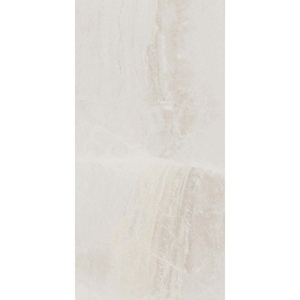 Gio Bone Gloss Marble Effect Wall Tiles - 30 x 60cm Large Image