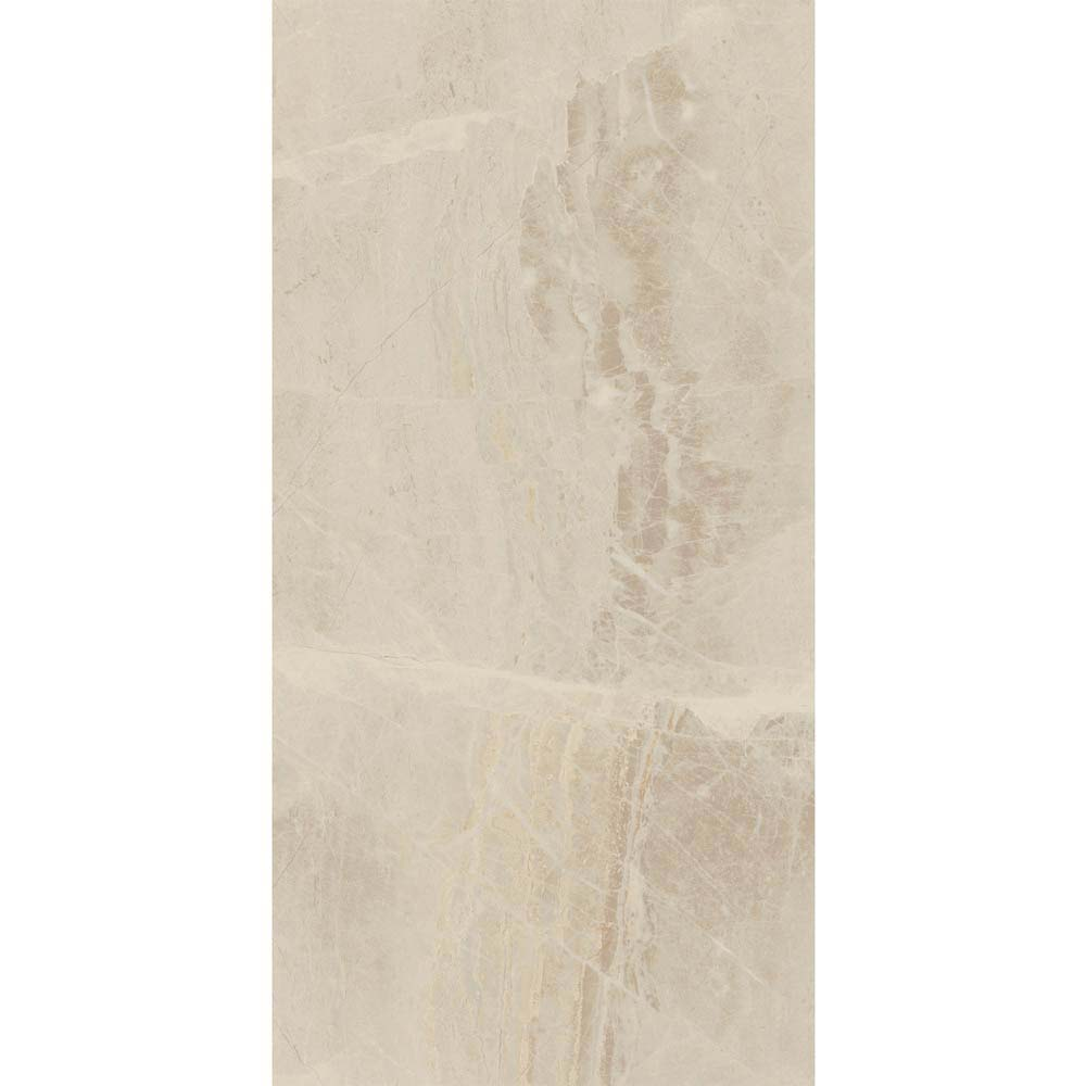 Gio Beige Gloss Marble Effect Wall Tiles - 30 x 60cm  Feature Large Image