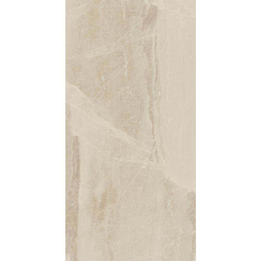 Gio Beige Gloss Marble Effect Wall Tiles - 30 x 60cm  Standard Large Image