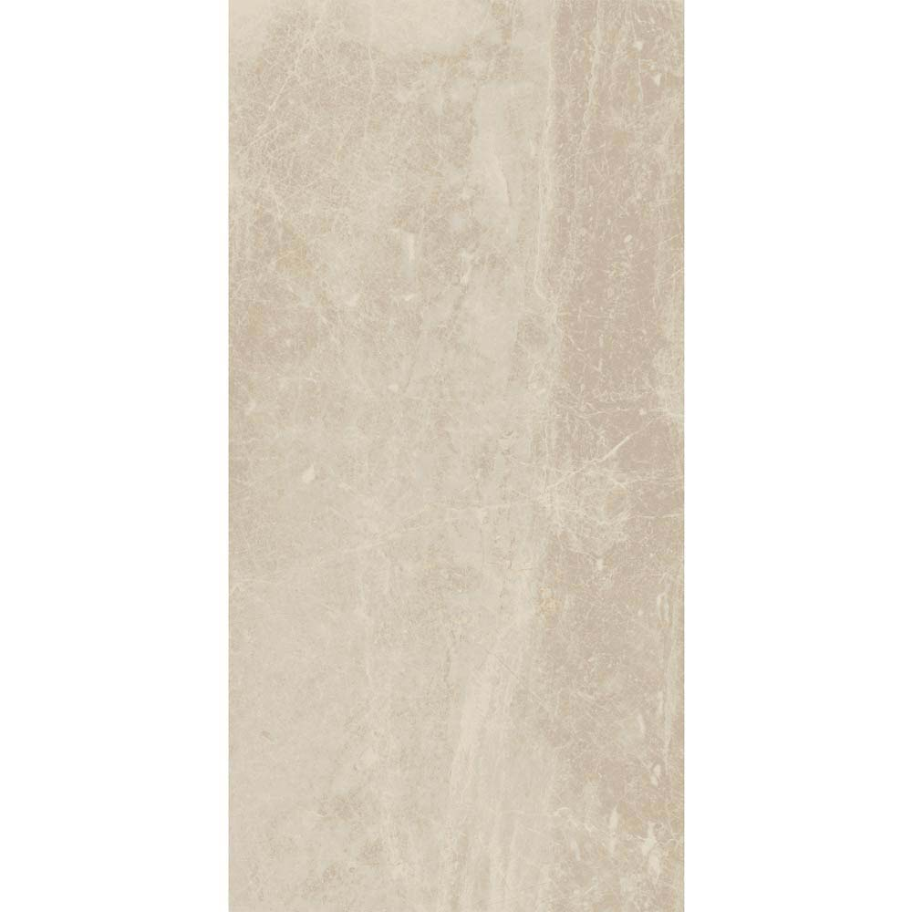 Gio Beige Gloss Marble Effect Wall Tiles - 30 x 60cm  In Bathroom Large Image