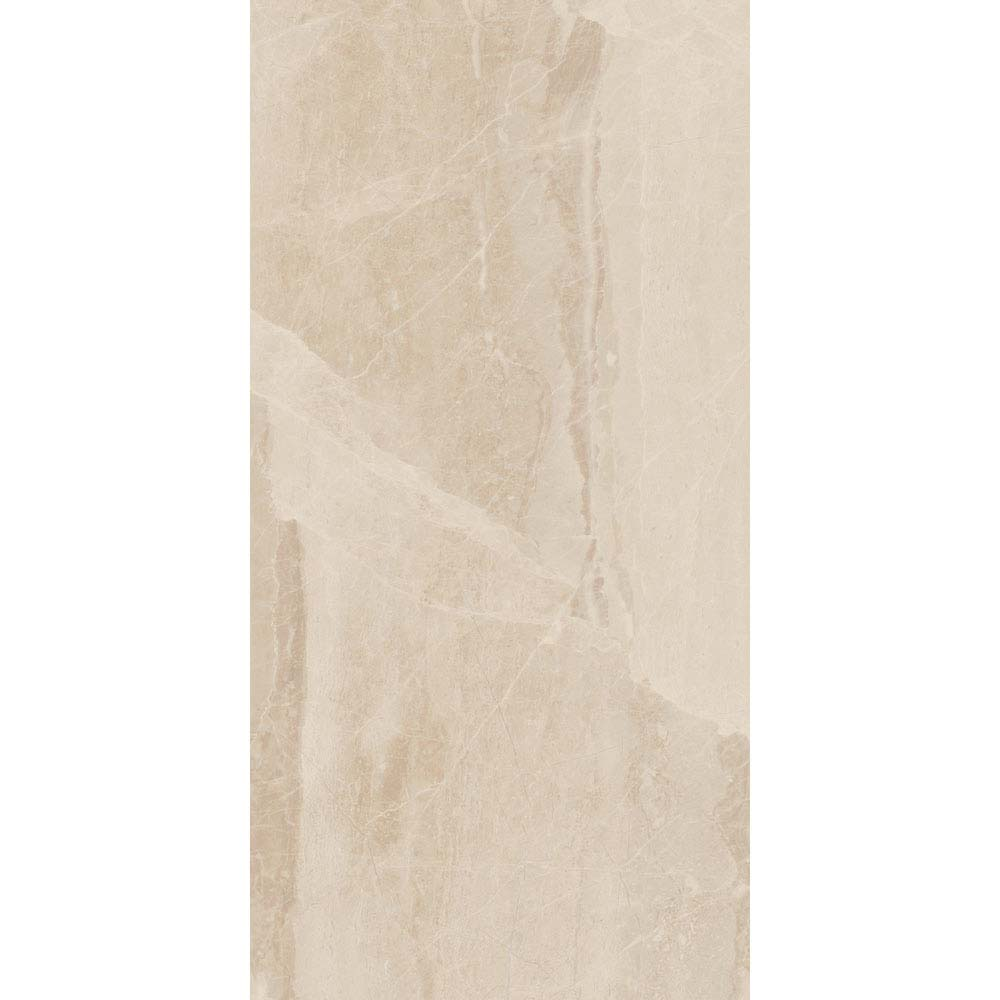 Gio Beige Gloss Marble Effect Wall Tiles - 30 x 60cm Large Image