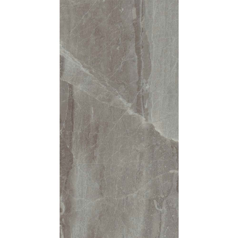 Gio Grey Gloss Marble Effect Wall Tiles - 30 x 60cm  Feature Large Image