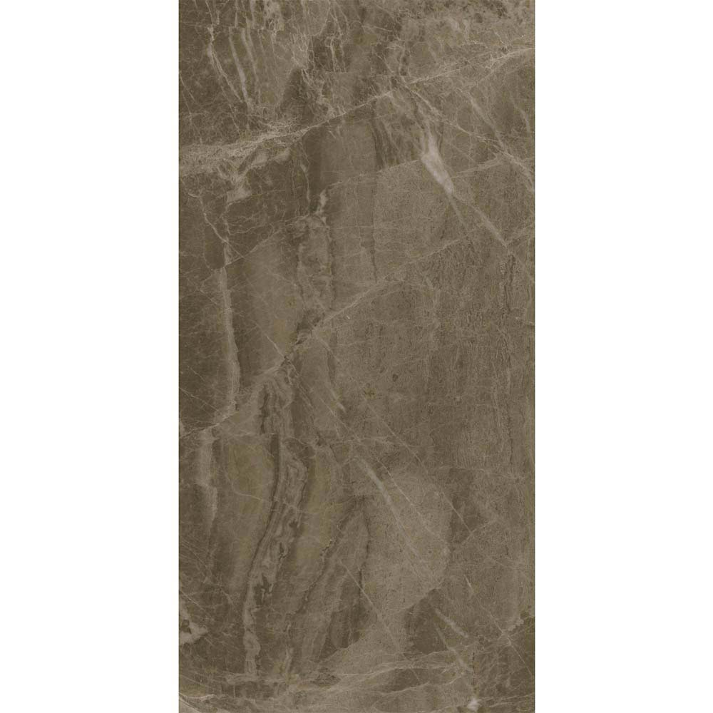 Gio Brown Gloss Marble Effect Wall Tiles - 30 x 60cm  Feature Large Image