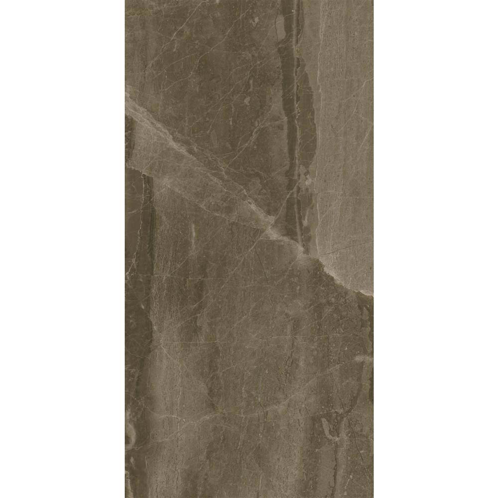 Gio Brown Gloss Marble Effect Wall Tiles - 30 x 60cm  Standard Large Image
