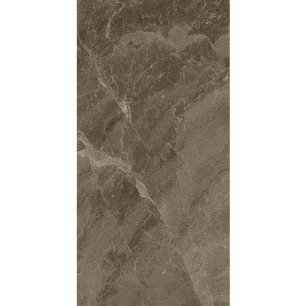 Gio Brown Gloss Marble Effect Wall Tiles - 30 x 60cm  In Bathroom Large Image