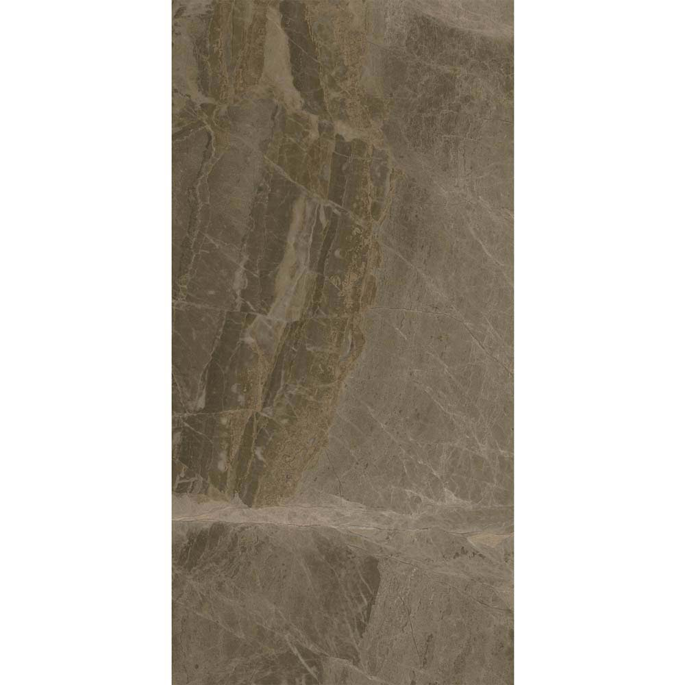 Gio Brown Gloss Marble Effect Wall Tiles - 30 x 60cm  Newest Large Image