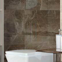 Gio Brown Gloss Marble Effect Wall Tiles - 30 x 60cm Medium Image