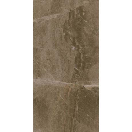 Gio Brown Gloss Marble Effect Wall Tiles - 30 x 60cm