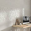 Forma Stone White Relief Wall Tiles - 300 x 900mm Small Image