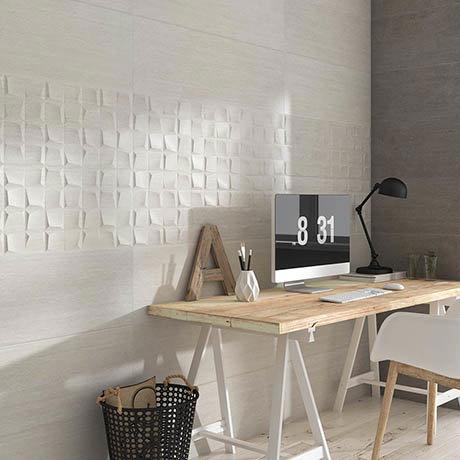 Forma Stone White Wall Tiles