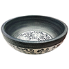 Kasbah Round 400mm Floral Patterned Ceramic Counter Top Basin profile small image view 1