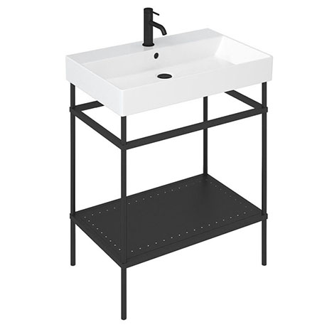 Britton Shoreditch Frame 700mm Basin & Black Wash Stand