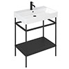 Britton Shoreditch Frame 700mm Basin & Black Wash Stand profile small image view 1