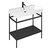 Britton Shoreditch Frame 1000mm Basin & Black Wash Stand profile small image view 1