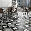 Formation Black & White Wall and Floor Tiles - 200 x 200mm Small Image