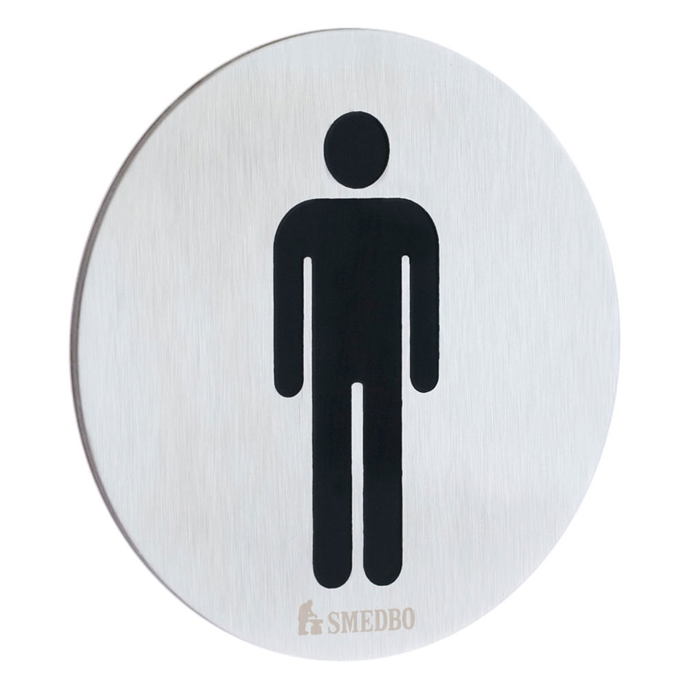 Smedbo Xtra WC Toilet Sign Gentleman - FS957 profile large image view 1