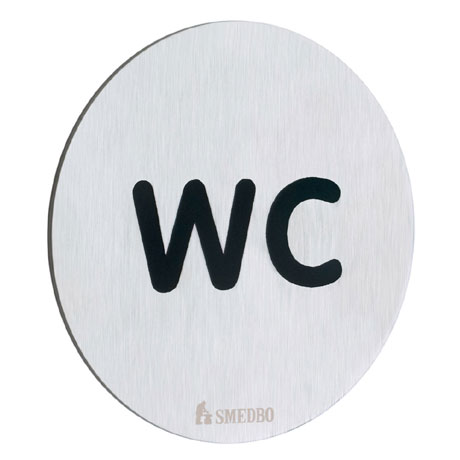 Smedbo Xtra WC Toilet Sign - FS958