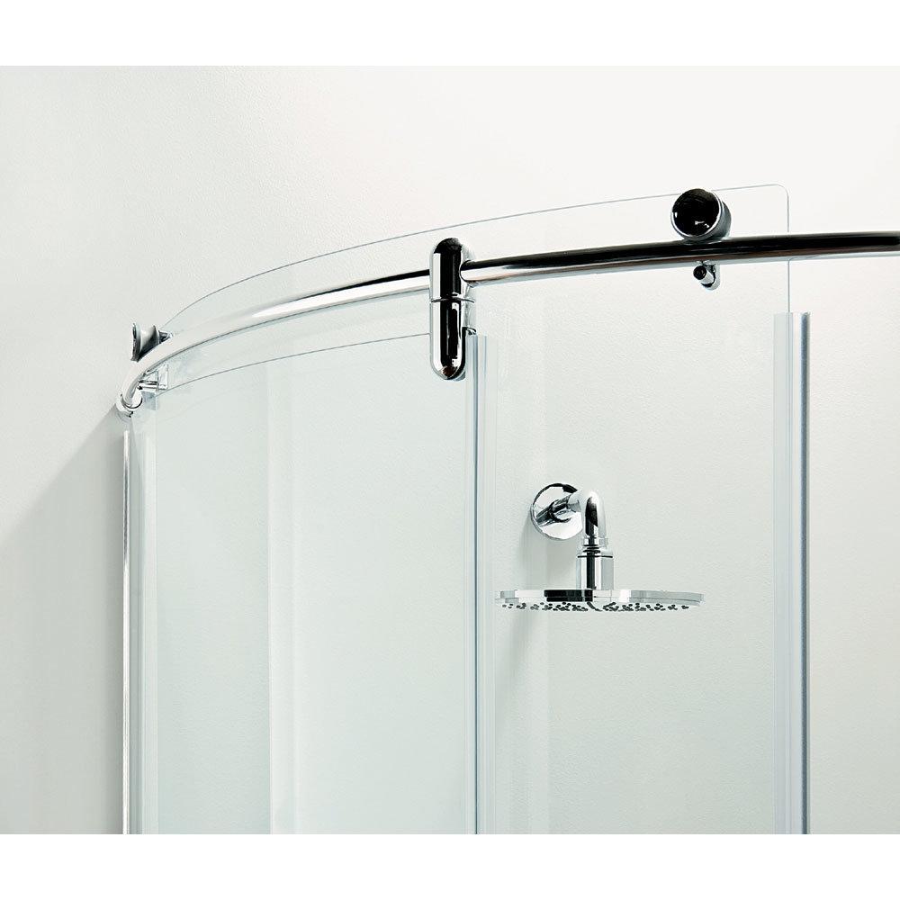 Coram - Frameless Premier Crescent Shower Enclosure - Various Size Options profile large image view 3
