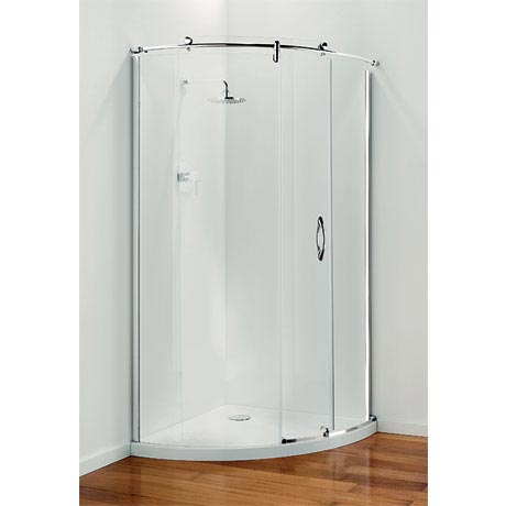 Coram - Frameless Premier Crescent Shower Enclosure - Various Size Options