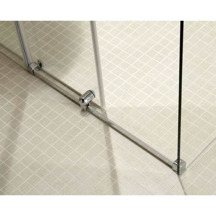 Coram - Frameless Premier Sliding Shower Door with Side Panel - Various Size Options Feature Large Image