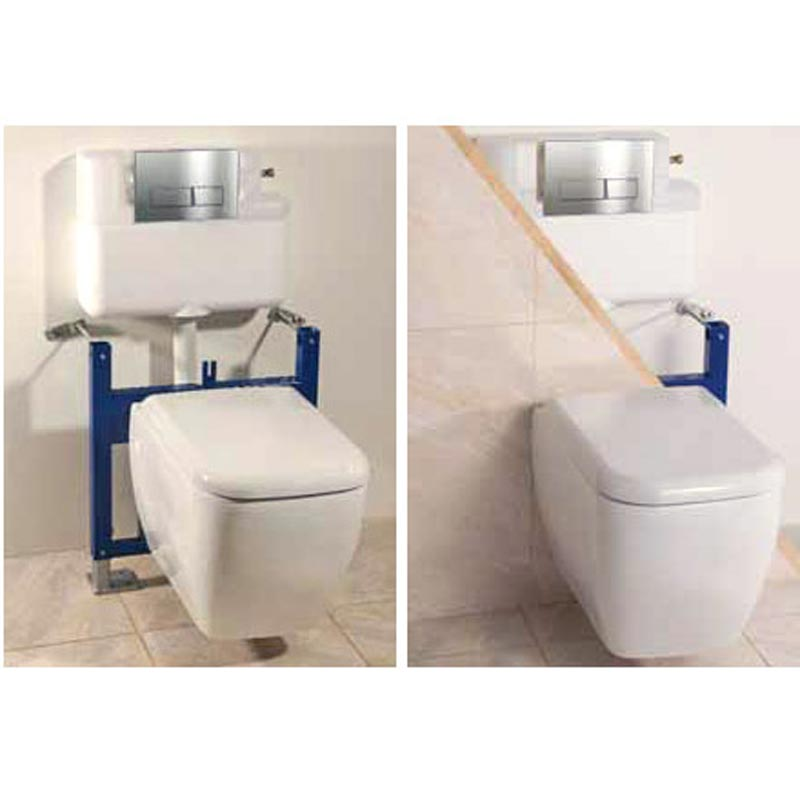 Burlington Traditional Concealed Cistern inc Ceramic Lever & Wall Hung Support Frame Standard Large Image