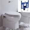 Burlington Traditional Concealed Cistern Inc. Ceramic Lever + Wall Hung Frame profile small image view 1