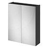 Fusion 600 Gloss Grey 50/50 Mirror Unit profile small image view 1