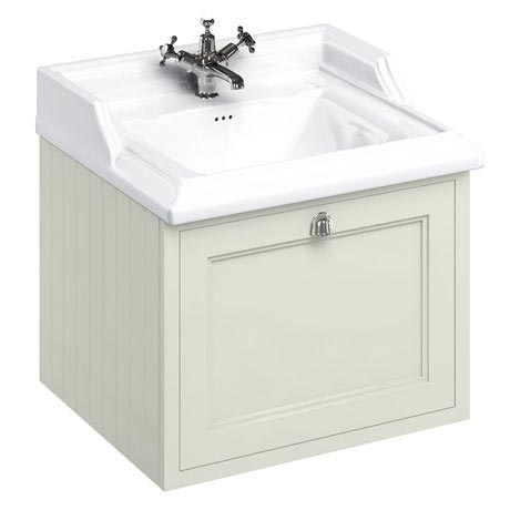 Burlington Wall Hung 65 Single Drawer Vanity Unit & Classic Basin - Sand