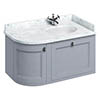 Burlington Wall Hung Corner Vanity Unit - Classic Grey - Right Hand 1000mm with Worktop profile small image view 1