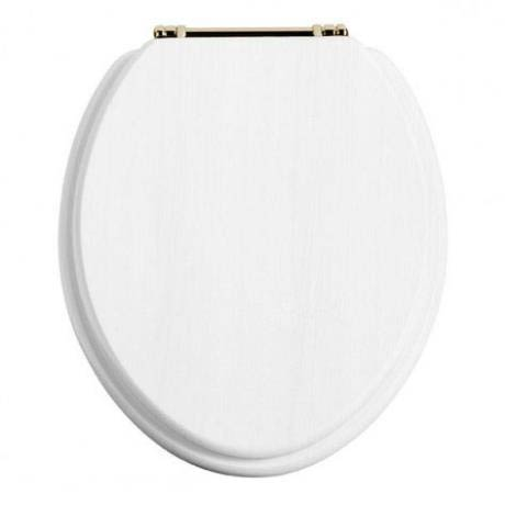 Heritage - Standard Toilet Seat with Gold Hinges - Various Colour Options