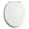 Heritage White Ash Standard Close WC Seat with Rose Gold Hinges - FWA102 profile small image view 1
