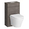 Brooklyn Grey Avola WC Unit inc. Cistern Frame, Flush Plate + Wall Hung Pan profile small image view 1