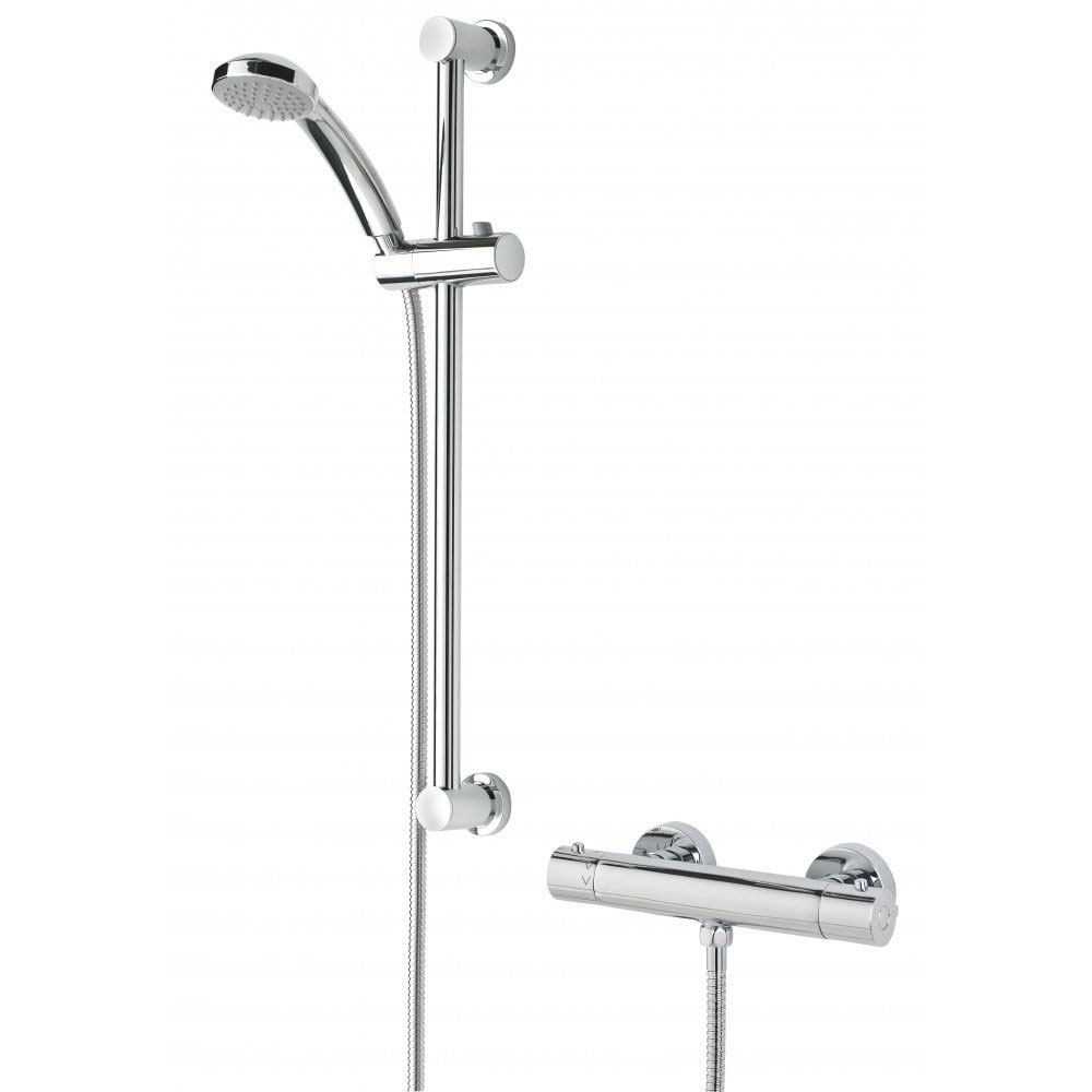 Bristan Frenzy Cool Touch Thermostatic Bar Valve Inc. Riser + Multifunction Handset (FZ-SHXVOCTFF-C)