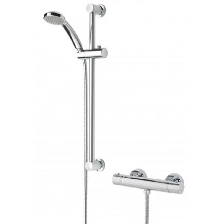 Bristan Frenzy Cool Touch Thermostatic Bar Valve w/ Riser & Multifunction Handset (FZ-SHXVOCTFF-C)