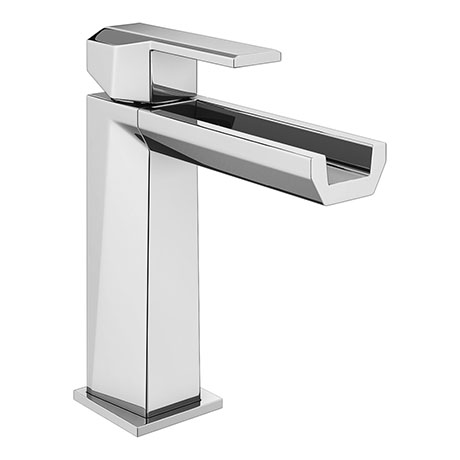 Forza Waterfall Modern Basin Mixer Tap + Waste
