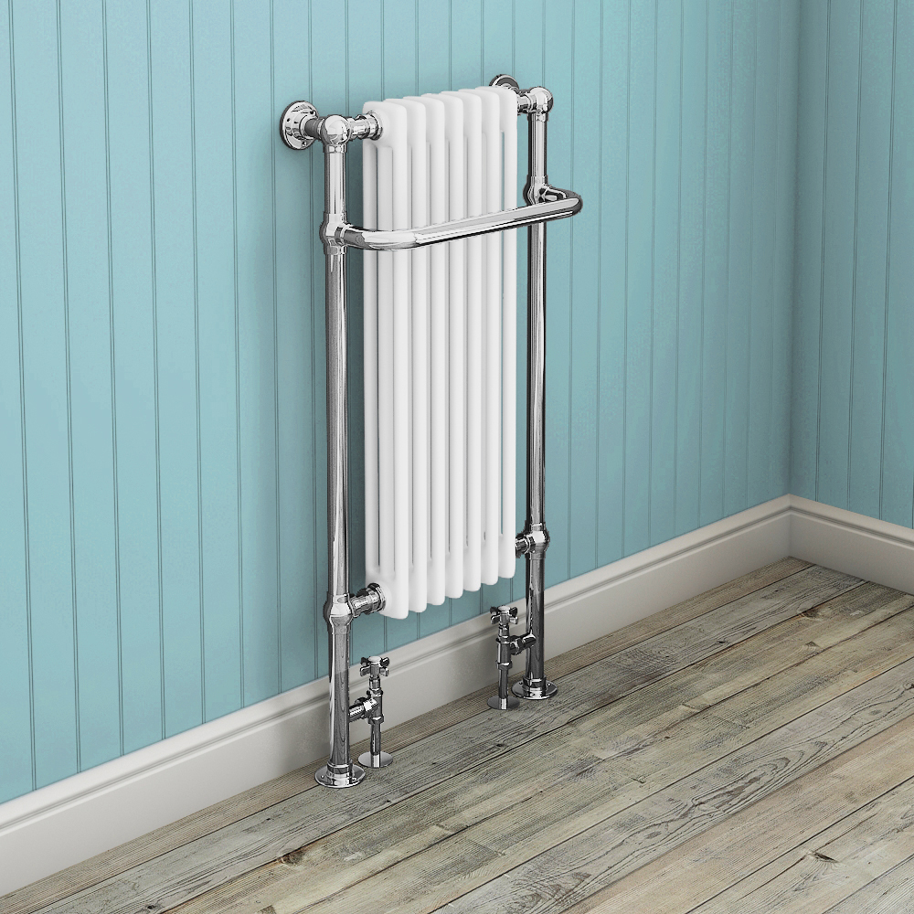 Fairport Traditional Towel Rail Radiator (1130 x 553mm) profile large image view 2