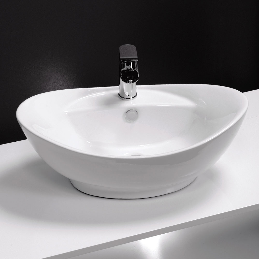 Faro Oval Counter Top Basin 1TH - 600 x 390mm Large Image