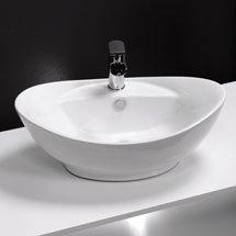 Faro Oval Counter Top Basin 1TH - 600 x 390mm Medium Image