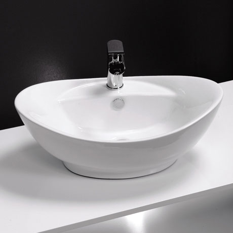 Faro Oval Counter Top Basin 1TH - 600 x 390mm