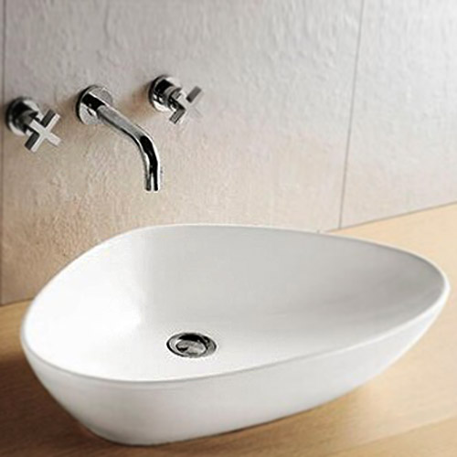 Fiesta Counter Top Basin 0TH - 650 x 430mm profile large image view 1