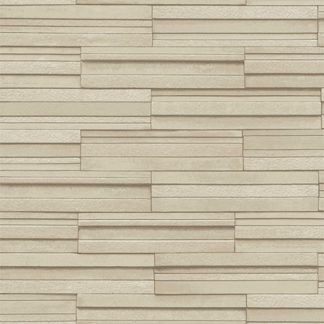 Fine Decor Beige Ceramica Slate Tile Wallpaper