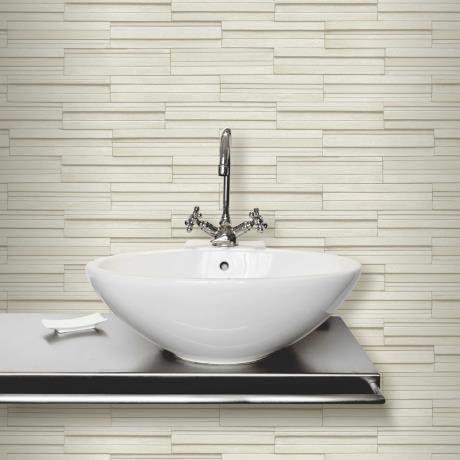 Fine Decor Cream Ceramica Slate Tile Wallpaper - FD40125 | 17 Stylish Bathroom Wallpaper Ideas