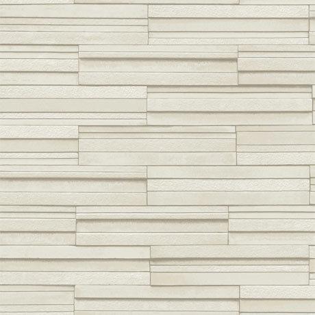 Fine Decor Cream Ceramica Slate Tile Wallpaper