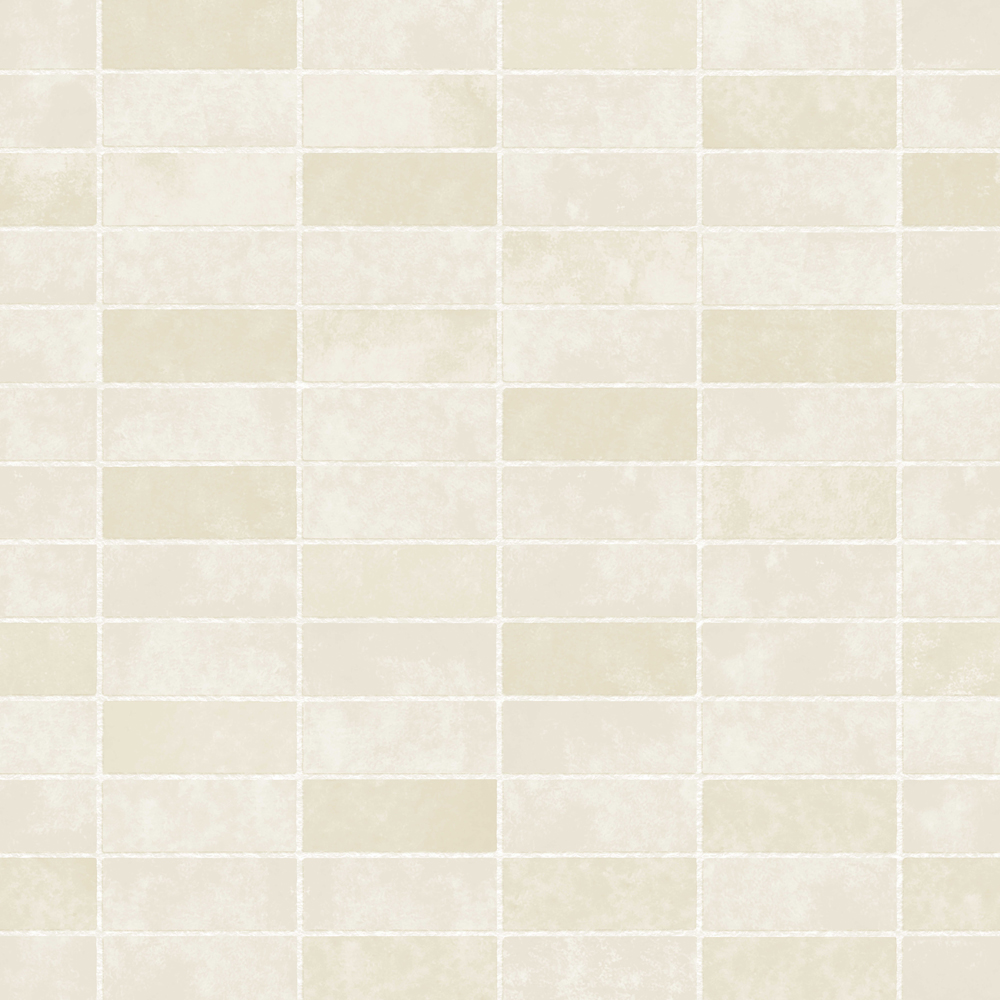 Fine Decor Cream Ceramica Stone Tile Wallpaper Large Image