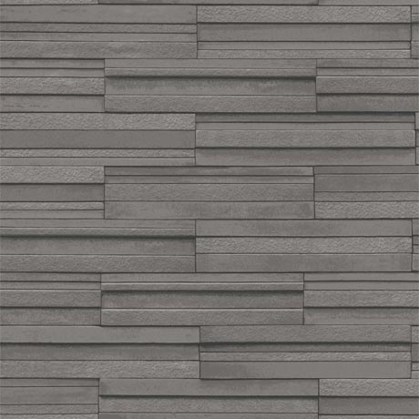 Fine Decor Dark Grey Ceramica Slate Tile Wallpaper