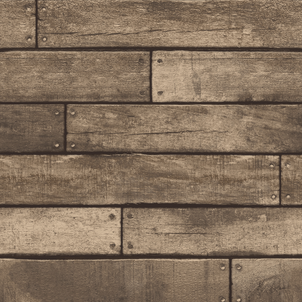 Fine Decor Distinctive Brown Wooden Plank Wallpaper profile large image view 1