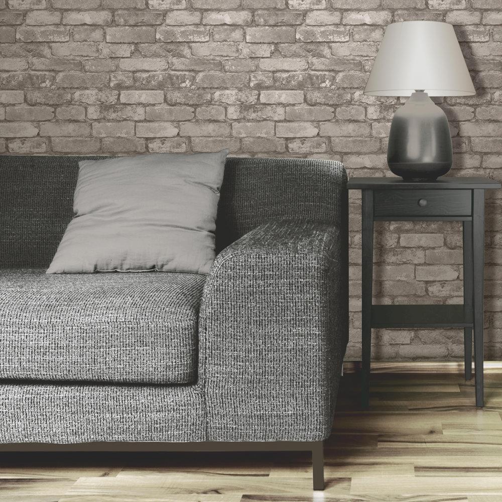 Fine Decor Distinctive Cream Rustic Brick Wallpaper profile large image view 2